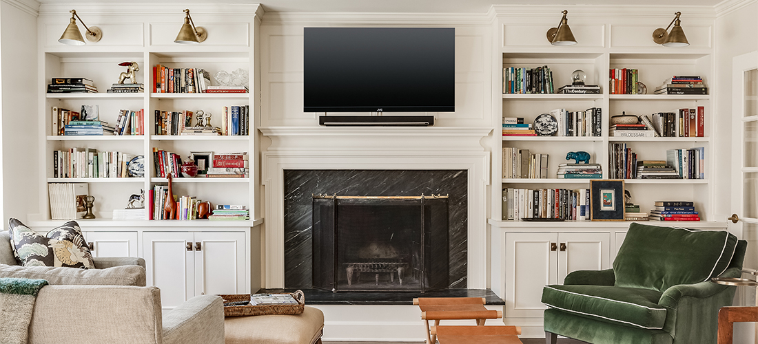 built in bookcases in mission hills scovell remodel