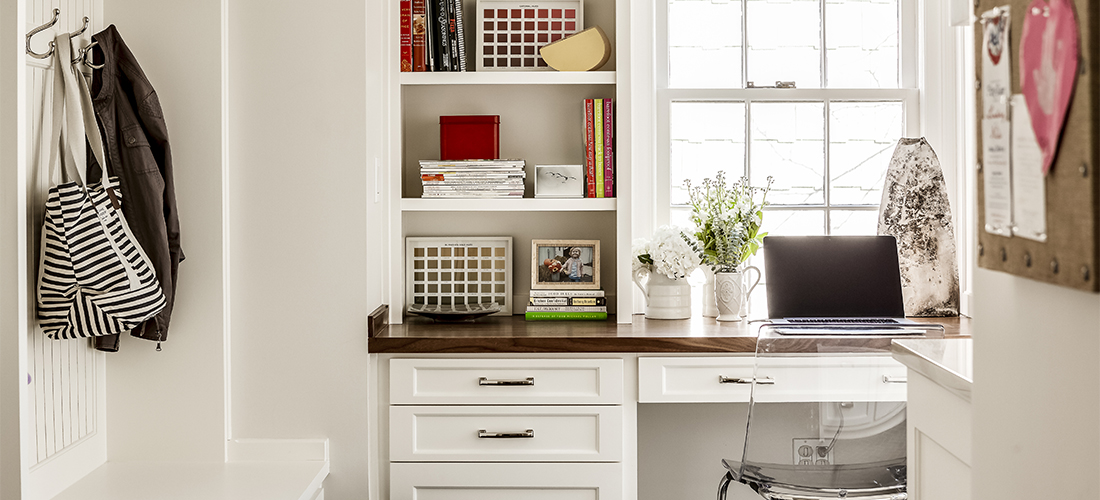 mudroom office with styling by natalie o'shaughnessey