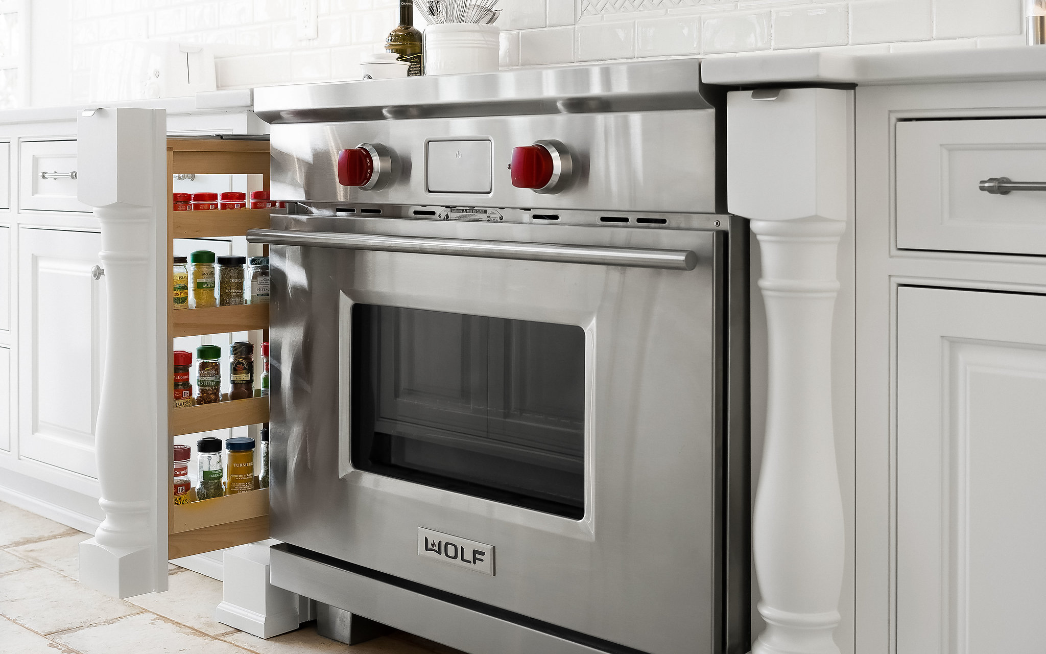 wolf induction range with pull out spice drawers