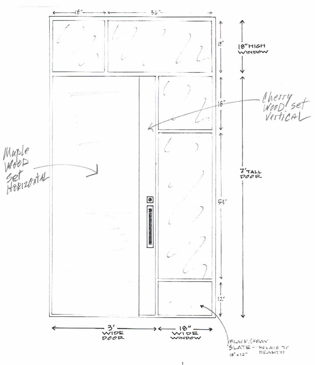 front door drawing for mission hills ranch