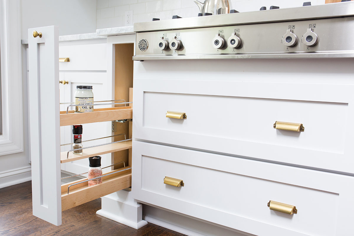 scovell remodeled kitchen with spice pull out