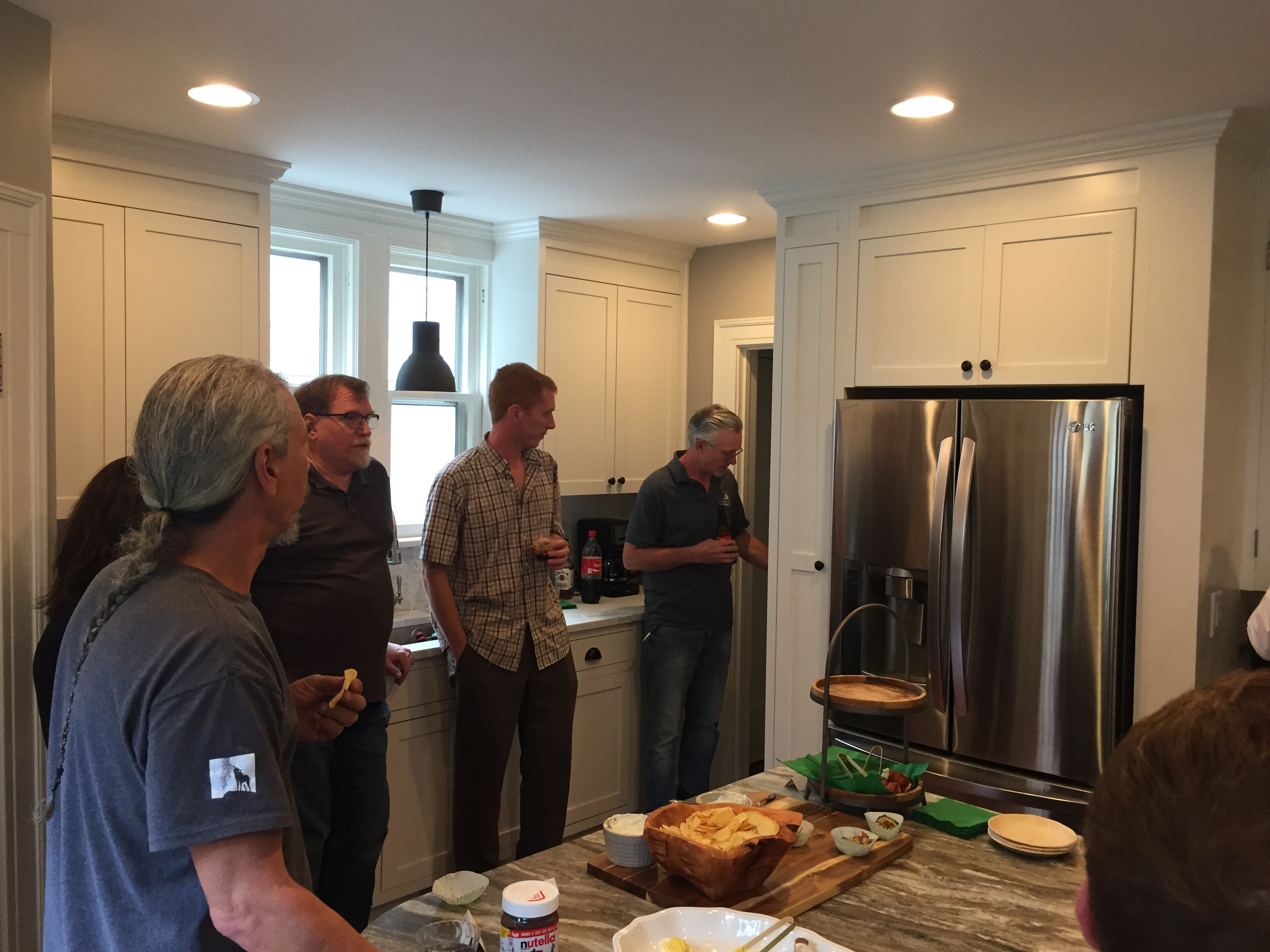 client hosted party for our scovell remodeling crew