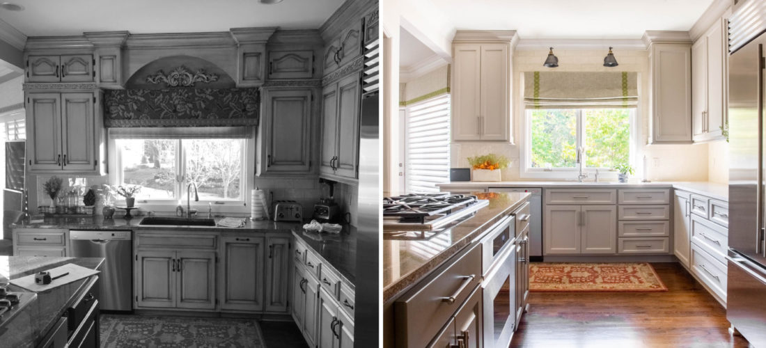 Before and After Kitchen by Scovell Remodeling