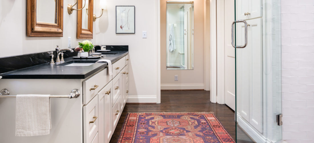 bedroom converted to master bathroom in mission hills