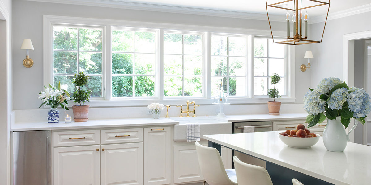marvin windows above sink in kitchen addition by scovell remodeling