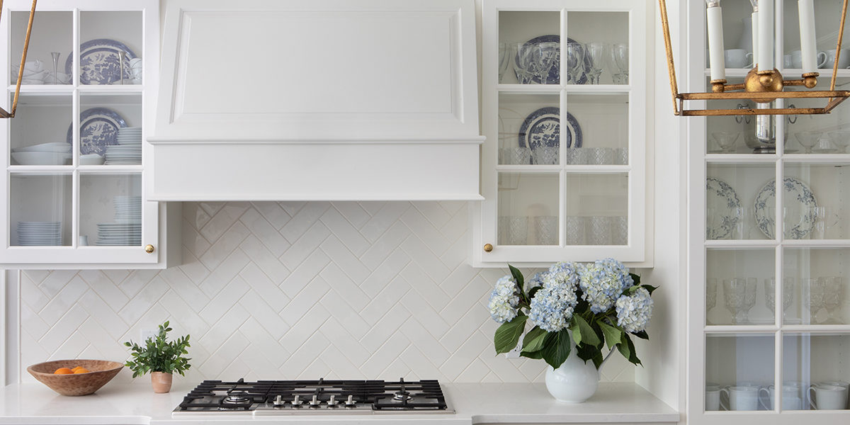 display cabinetry in brookside kitchen remodel by scovell remodeling