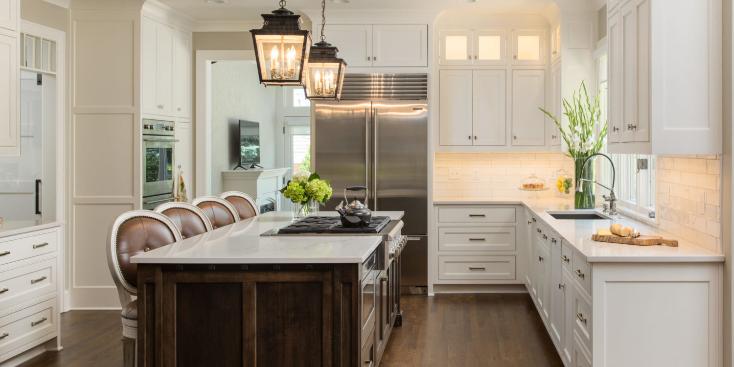 hallbrook kitchen remodel with stained island