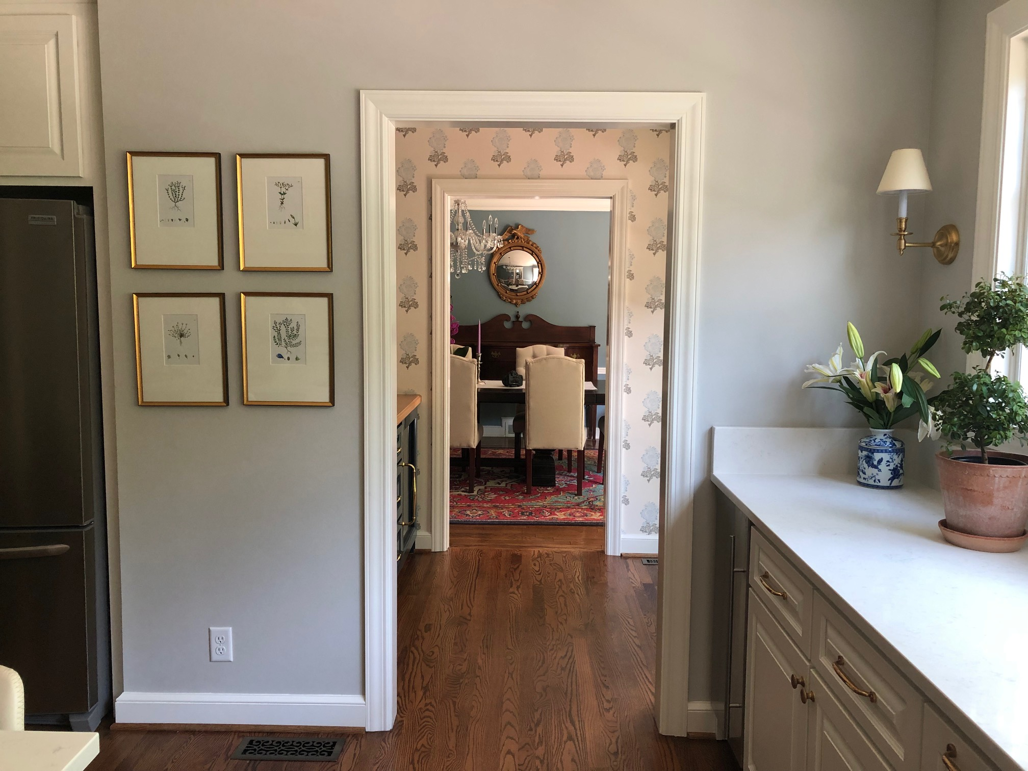 kitchen to butlery to dining room